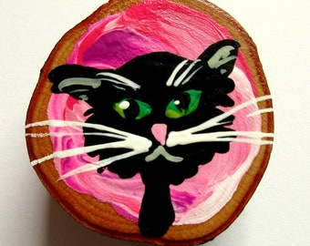 Magnet Hand-painted Art Cat Ivan
