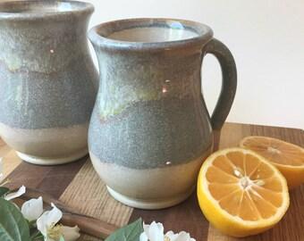 Handmade Ceramic Mug - Coffee Mug - Tea Mug - Blue Glaze