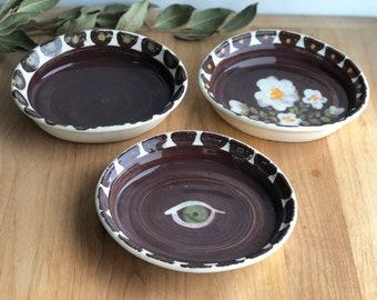 3 Tapas Plates - Set of Ceramic Serving Dishes
