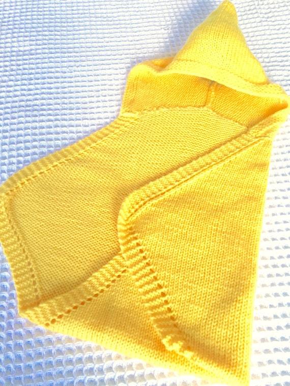 Knitting Pattern Baby Blanket Hooded Newborn Baby Wrap