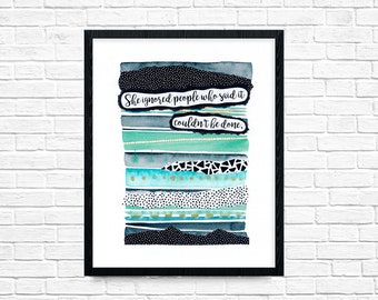 WATERCOLOR KIDS ART, Mixed Media Painting, Abstract Wall Art, Women Birthday Gift, Printed Quotes Art, Room Art Prints
