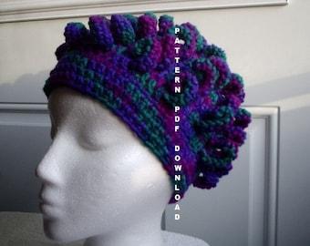 Crochet PATTERN Curl Hat Pattern Crochet, PDF, Free shipping