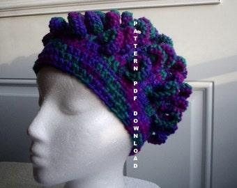 PATTERN Curl Hat Pattern Crochet, PDF, Free shipping