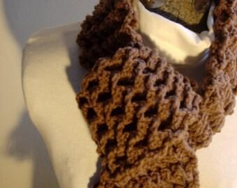 Pattern Crochet Waffle THREE DIMENSIONAL SCARF