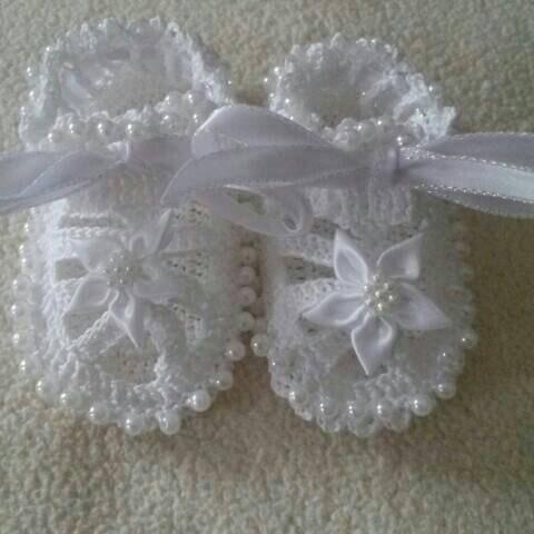 1d8bde8ac193dc 0-12 months 2 PATTERN BEADED Baby Booties Sandals crochet