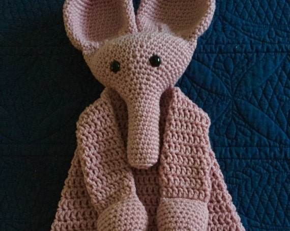 Soft Pink Elephant Rag Doll Toy/Lovey—SALE—FREE Shipping