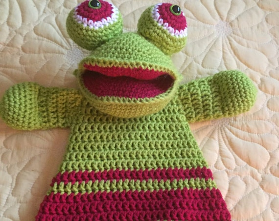 Lime and Red Frog Rag Doll Toy/Lovey—SALE—FREE Shipping