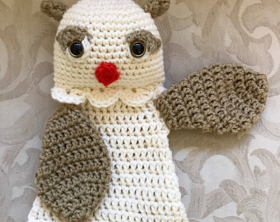 Cream and Tan Baby Owl Rag Doll Toy/Lovey