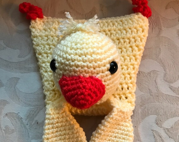 Pale Yellow and Orange Baby Duck Rag Doll Toy/Lovey