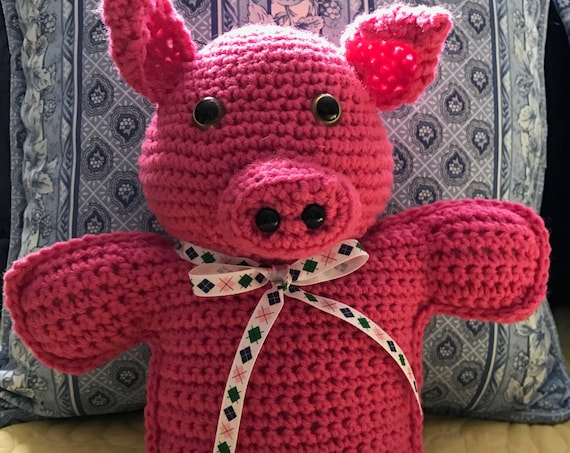 Preppy Pig Hot Pink Stuffed Toy—FREE Shipping