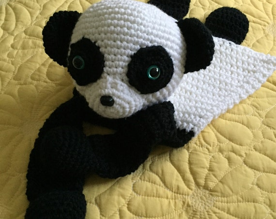 Black and White Panda Rag Doll Toy/Lovey—FREE Shipping