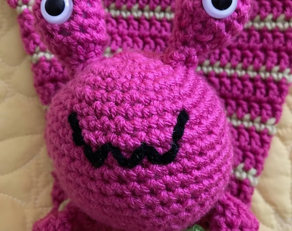 Hot Pink and Lime Alien Rag Doll Toy/Lovey—FREE Shipping