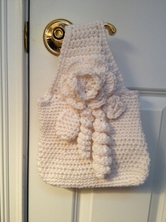 Vintage Victorian Downton Abbey-inspired Crocheted Purse/Bag in Off White