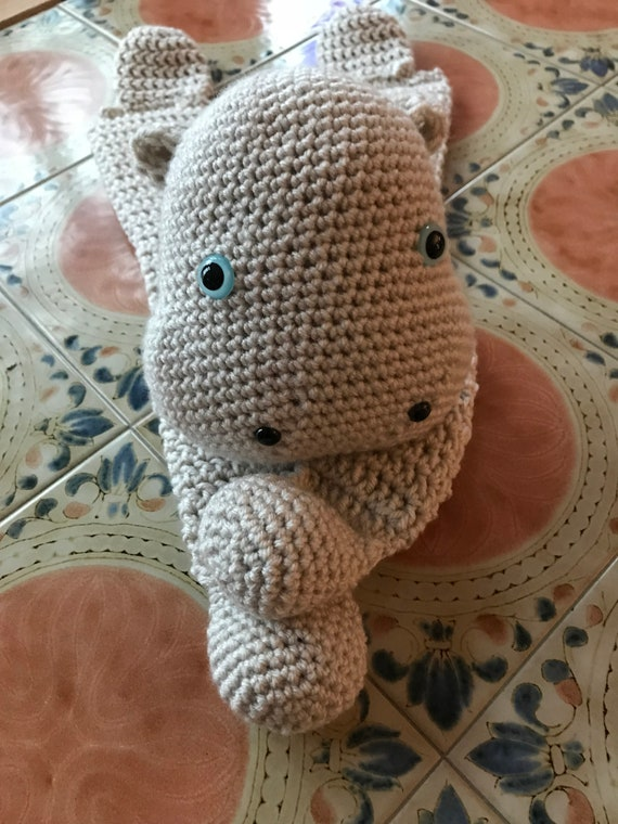 Neutral Linen Hilly the Hippopotamus Rag Doll/Lovey
