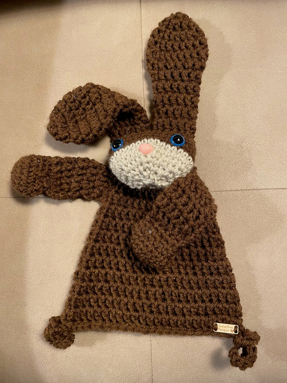 Chocolate Mini Bunny Rag Doll with an adorable little pink nose—FREE SHIPPING