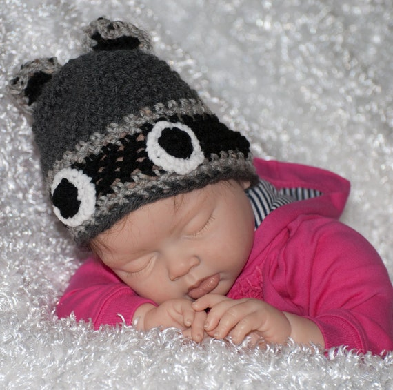 Baby Rascal Racoon Hat FREE SHIPPING