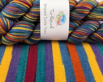 A Stroll Down Duckworth Street - Hand Dyed Self Striping Sock Yarn