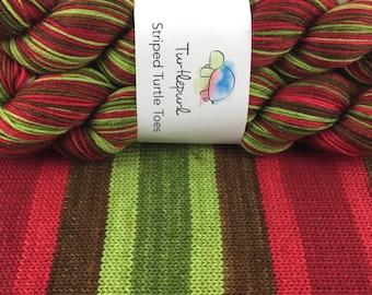 Poison Apple - Hand Dyed Self Striping Sock Yarn