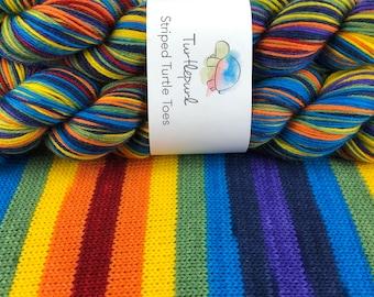 Om - Hand Dyed Self Striping Sock Yarn