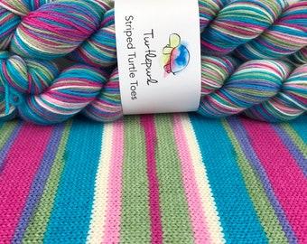 Sweet Pea - Hand Dyed Self Striping Knitting Yarn