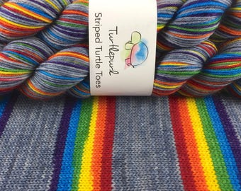 What Does It Mean? - Hand Dyed Self Striping Sock Yarn