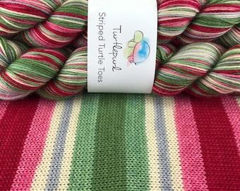 Sugar Plum Waltz - Hand Dyed Self Striping Sock Yarn