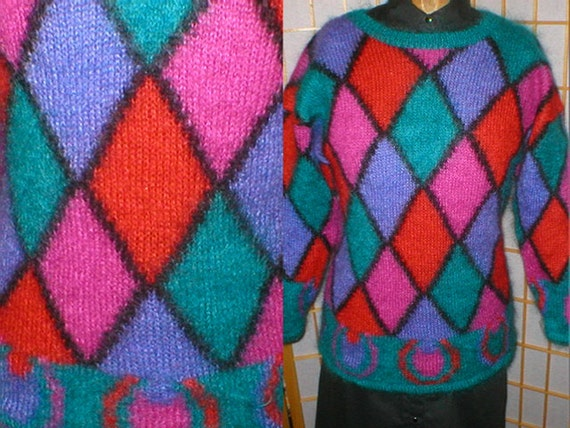 Vintage 80s mohair sweater womans size medium