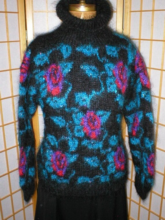 Vintage 80s Mohair Sweater womans size Small