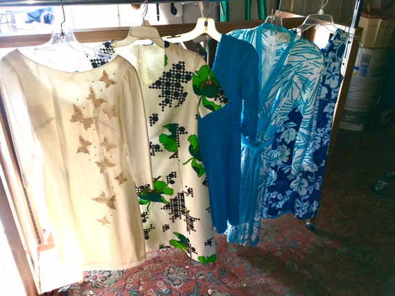 A lot of 5 Vtg 60s 70s dresses  womens / misses si