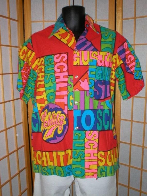 f4e031f06124 des années 60 en coton Shlitz hawaïen homme   camp chemise pour homme  hawaïen de taille ...
