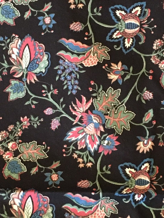 4 yards 36 wide vintage 50s floral cotton dressmaking  quilting fabric