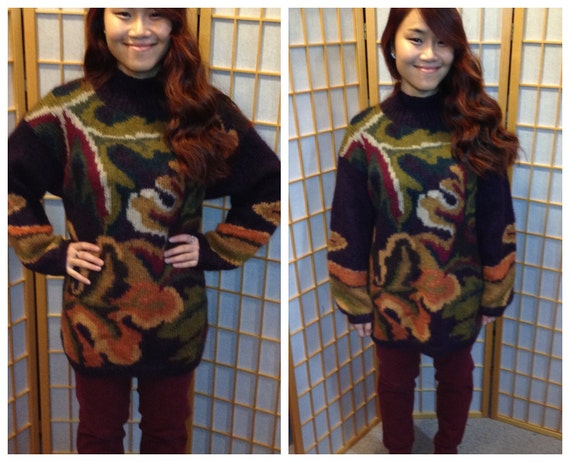 80s oversized abstract mohair sweater / sweater dr
