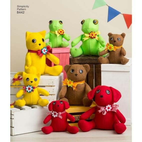 Zwei Stück Spielzeug-Muster / Bär Hund Frosch Katze Filz | Etsy