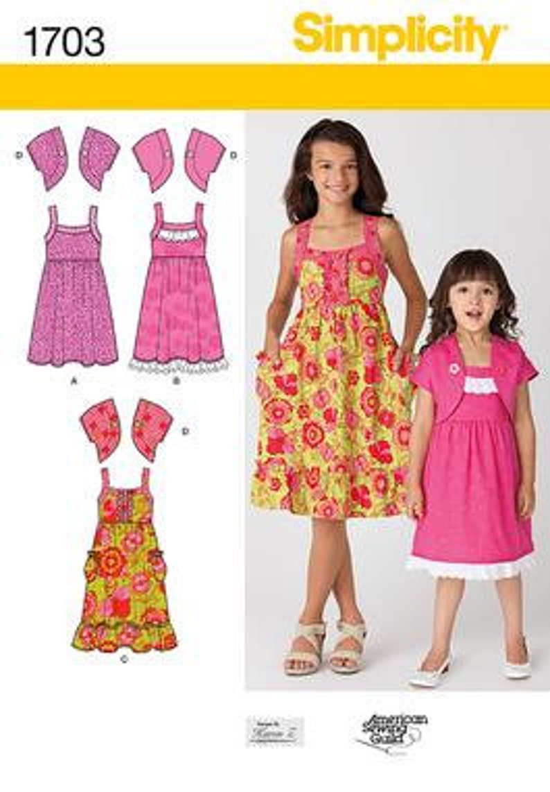 c12b4e0ecf1 GIRL CLOTHES PATTERN   Make Summer Dress Bolero Headband