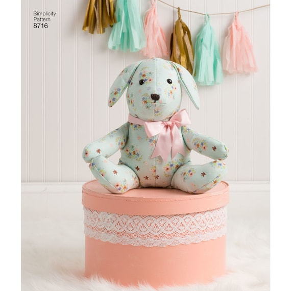 SEWING PATTERN MAKE PLUSH BEAR~BUNNY BABY~CHILD SOFT~CLOTH TOY MESH GIFT BAGS