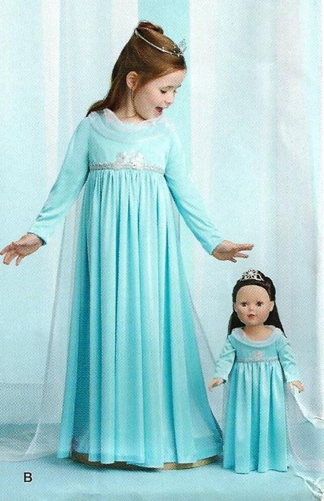 GEFRORENE Schnittmuster / machen Elsa-Kleid für Mädchen und | Etsy