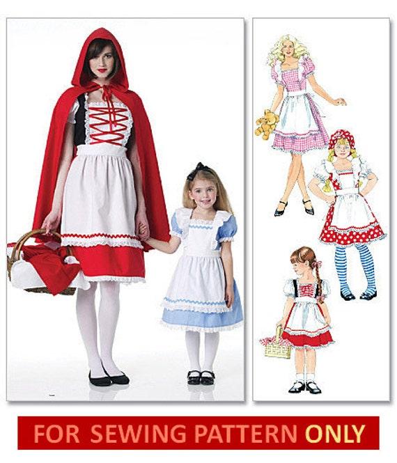 Mädchen Kostüm Muster Goldilocks / Alice im Wunderland / | Etsy