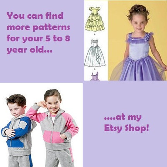 Learn 2 Sew Pattern Make Child Girl Pull Over Top Easy Etsy
