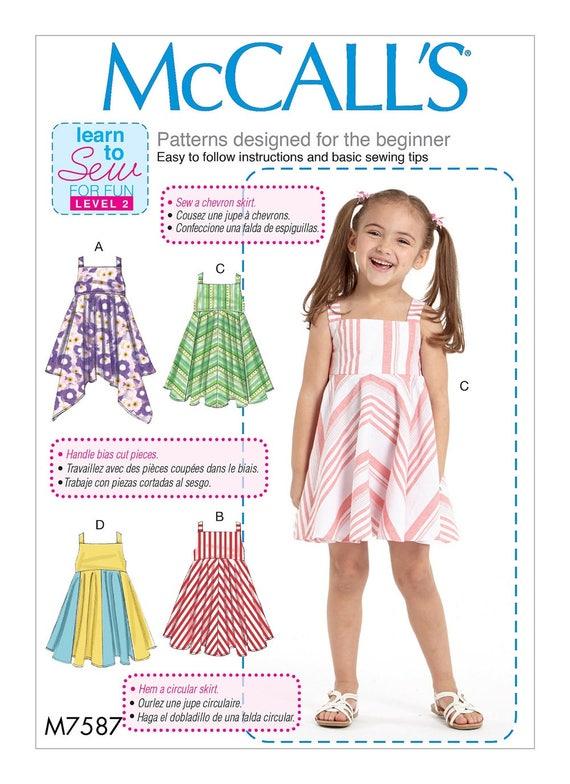 ROPA de niña patrón / hacer Vestido de Jersey Vestido de | Etsy