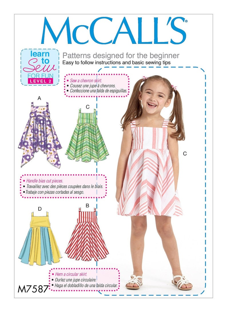 5a57991ac4f GIRL CLOTHES PATTERN   Make Summer Pullover Dress Sundress