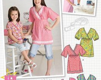 LEARN 2 SEW PATTERN / Make Child - Girl Pull Over Top / Easy for Kids and Adults / Size 3 to 6