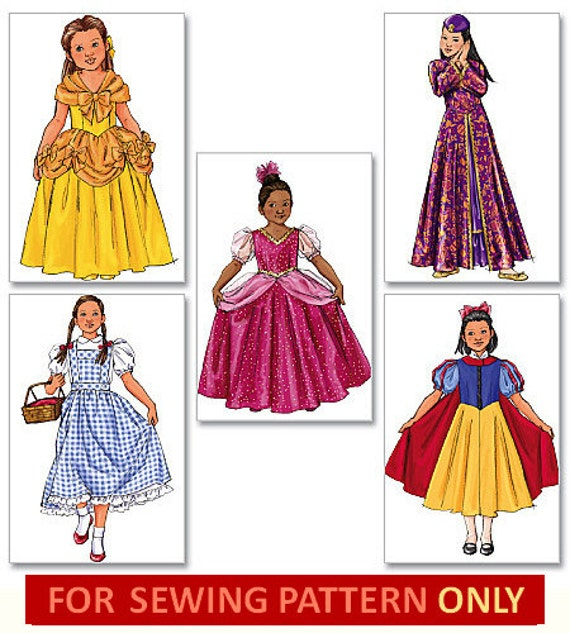 COSTUME SEWING PATTERN Disney Princess Dorothy Wizard Of Etsy Unique Disney Sewing Patterns