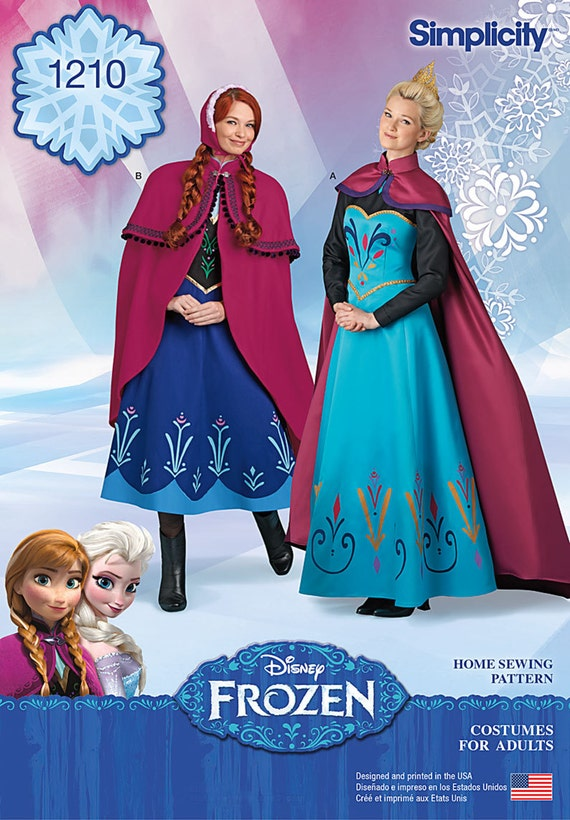 sc 1 st  Etsy & ADULT FROZEN PATTERN / Elsa Coronation Dress and Cape / Anna