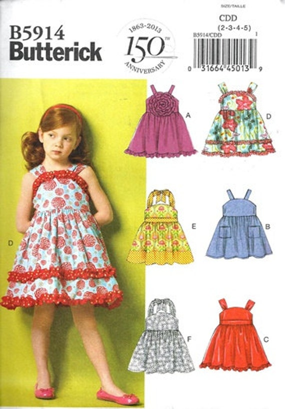 a73a53e99d9 GIRLS CLOTHES PATTERN   Make Summer Dresses or Sundresses