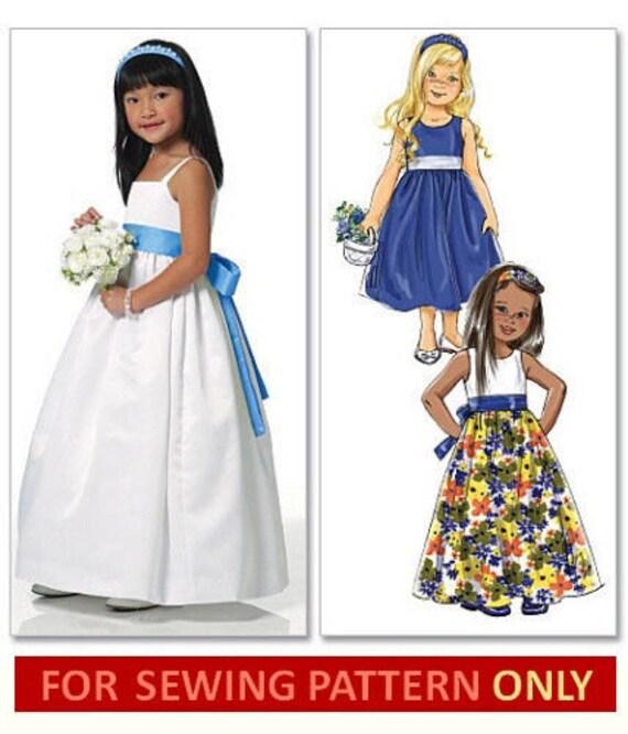 GIRLS DRESS PATTERN / Retired / Make Girls Fancy Dress / Flower Girl ...