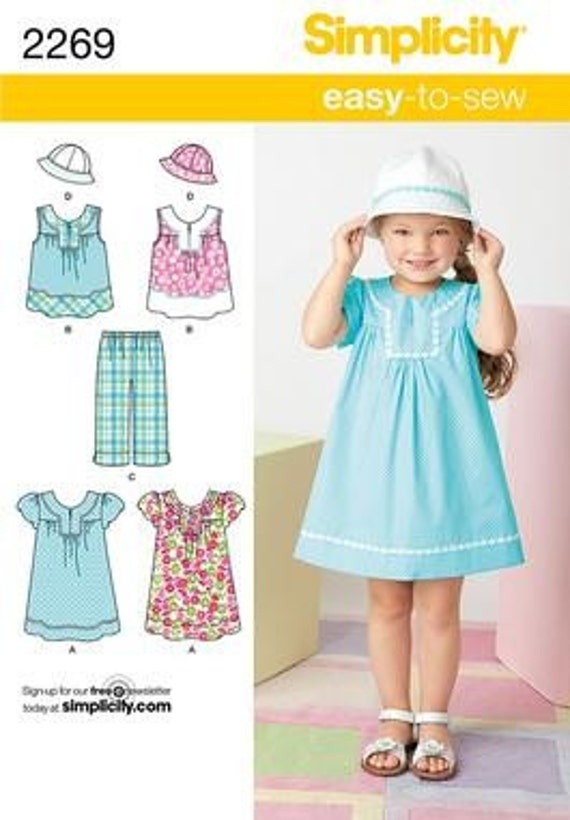 PATRONES de ropa de verano para niñas / vestido Top   Etsy