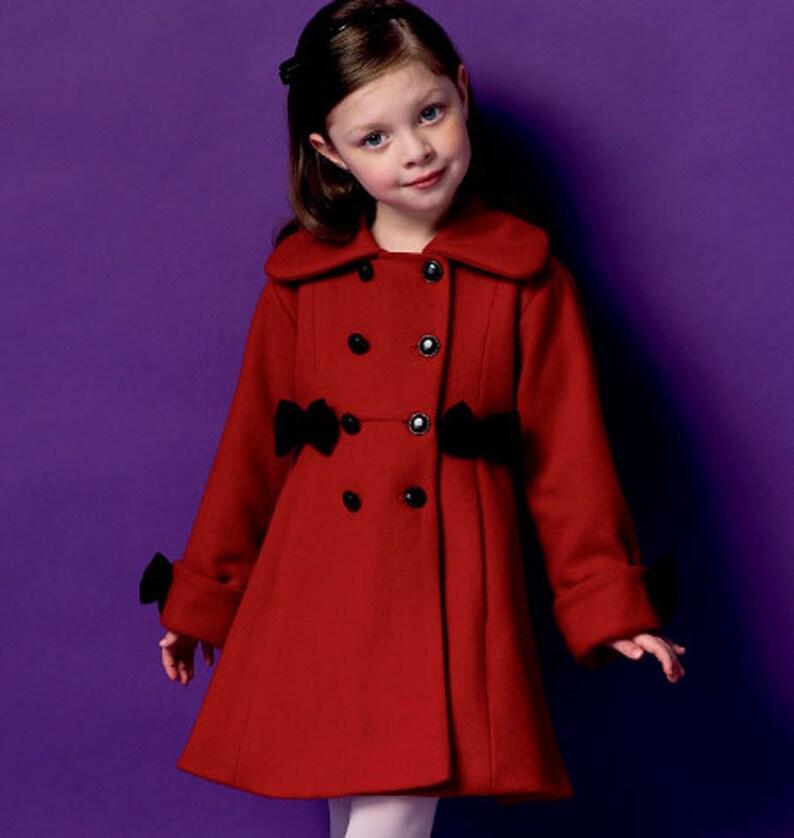 476d06c7a GIRLS COAT PATTERN   Make Pretty Winter Coats   Sizes 2 5 Or