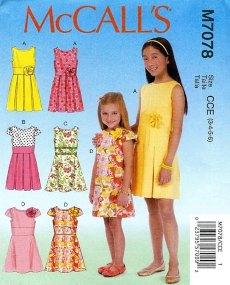 791ef73da499 GIRLS DRESS PATTERN / Summer Clothes / Sizes 3 6 Or 7 14 | Etsy