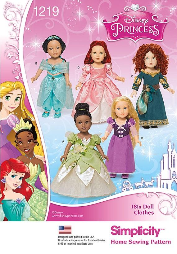 Puppe Kostüm Muster / passt amerikanische Mädchen / Disney