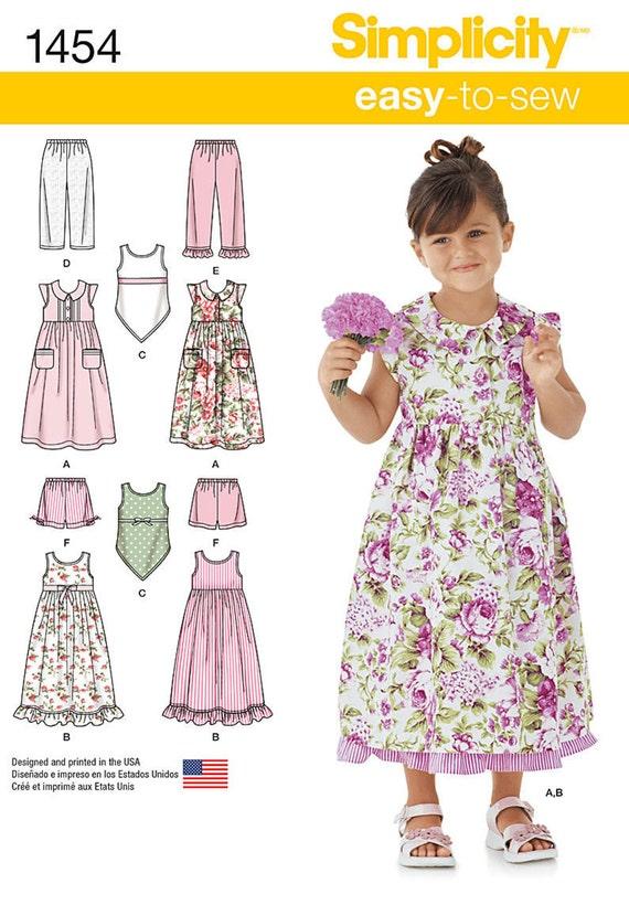 ROPA de niñas patrón / hacer ropa de verano / Shorts Top | Etsy